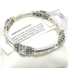Serenity Prayer AB Crystal  AA AL-ANON Recovery Inspirational  Bracelet