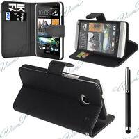Fundas Funda Carcasa Cartera Cuero PU Tarjeta Solapa funda para HTC One Mini M4