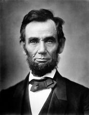 PRESIDENT ABRAHAM LINCOLN CLOSE UP PORTRAIT 8X10 GLOSSY PHOTO