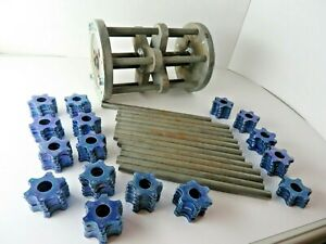 EDCO 8 In. Scarifier Drum CPM8 6pt Carbide Cutters ORIGINAL Edco Blue NOS