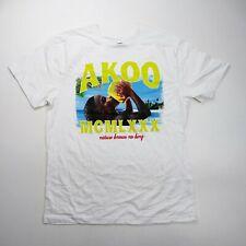 Akoo mens 100% AUTHENTIC Crewneck T-SHIRT SIZE LARGE white logo