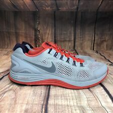 52db7fa14ed2 Nike Lunarglide 4 Running Shoes Men Size 14 GRAY solar Red  Purple 524977-