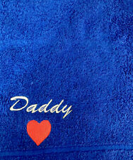 Daddy Face Cloth Fathers Day Birthday Gift Blue 100% Cotton Lovely Present