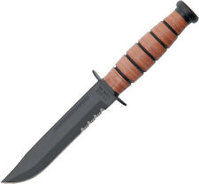 "Ka-Bar Knives 9 3/8"" overall. 5 1/4"" partially serrated 1095 carbon steel blade"