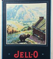 1922 Original Antique JELL-O RECIPES Color Illustration Booklet Bear Mountain