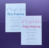 10 Personalised Christening Invitations - Girls - Boys - Baptism - Naming Day