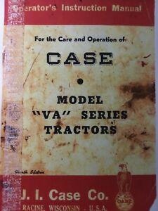 CASE J.I Agriculture Farm Tractor VA VAC VAO VAH Owner Operators Manual 1947
