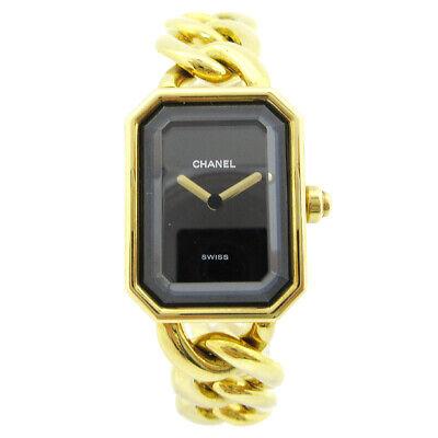 CHANEL Premiere Ladies Quartz Wristwatch Watch #L Q.H. YG750 18K 00042