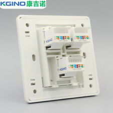 Wall Socket Plate Kgino 3 port CAT6 RJ45 computer network panel