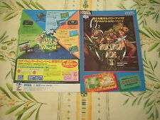 >> GOLDEN AXE II 2 SEGA MEGADRIVE ORIGINAL JAPAN HANDBILL FLYER CHIRASHI! <<