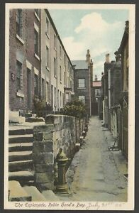 Postcard Robin Hood's Bay nr Whitby Yorkshire view of The Esplanade dated 1905
