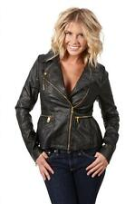 Steve Madden Women's Classic Style Faux Leather Motorcycle Jacket M