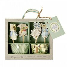 Peter rabbit cupcake kit, gâteau cas & toppers, baby shower/1st birthday party