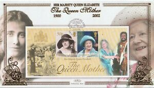 ASCENSION ISLAND 2002 THE QUEEN MOTHER M/SHEET BENHAM FIRST DAY COVER SHS