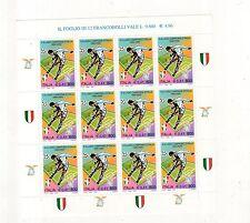 foglietto francobolli campionato di calcio 1999/2000 -12 valori anno 2000 -