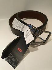 LEVI'S Mens Brown/Black Reversible Genuine Leather Belt Size 42 , New With Tags