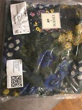 Erdem X H&M Floral Scarf In Khaki Green