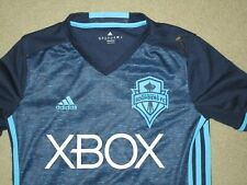 ADIDAS CLIMACOOL SEATTLE SOUNDERS FC MLS SOCCER YOUTH JERSEY MEDIUM USED