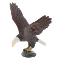 Mini Eagle w/ Base Model Figure Collectible Figurine Kids Animal Toy