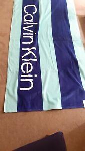 Calvin Klein Beach CK Luxry Towel Blue 101cmX177cm 40inX 70in 100% Cotton New