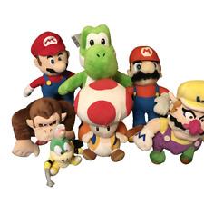 Nintendo Donkey Kong Mario Wario Yoshi Matamoscas Blando Felpa Juguetes Trabajo Lote Paquete