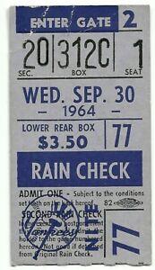 1964 Mickey Mantle Last HR #35 YR ticket #537 Life New York Yankees/Last X 30HR
