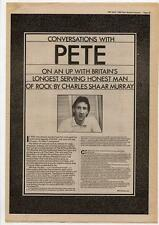Pete Townshend The Who Interview NME Cutting 1980