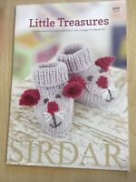 Sirdar Snuggly Little Treasures Knitting Pattern Book 17 D/k Designs 0-7yrs 490