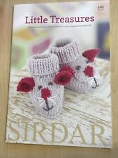 Sirdar Snuggly Little Treasures Knitting Pattern Book 17 D/k Designs 0-7yrs 490