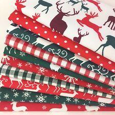 Cuarto Gordo de Navidad Paquete 10 telas de Polialgodón Stags & Ciervo 20 X 22 in (approx. 55.88 cm)