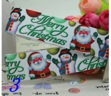 "1M 22mm 7/8"" MERRY CHRISTMAS GROSGRAIN RIBBON 99p CAKE PARTY XMAS"