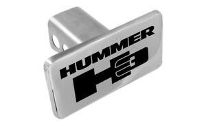 """Hummer H3 Logo Trailer Tow Hitch Cover Plug Emblem 2"""" Receiver Tow Plug Cap OEM"""