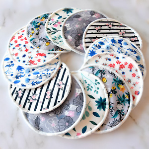 Washable Breast Pads - Reusable Bamboo Nursing Pads Breastfeeding Pads - 12 Pack