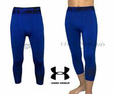 🔥Men's UNDER ARMOUR HeatGear 3/4 Compression Tights Sport Leggings Royal Blue