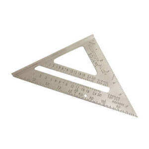 WESTWARD 4MRX4 Rafter Angle Square,7 In,Aluminum