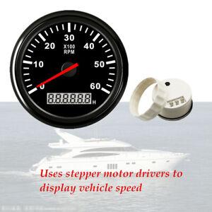 85mm Marine Tachometer Boat Gauge Car Truck stepper motor Digital Hourmeter