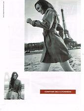 PUBLICITE ADVERTISING 104 2013  COMPTOIR DES COTONNIERS manteaux trench-coat