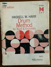 Drum Method by Haskell Harr c/ 1968 Instruction and Music Score Book