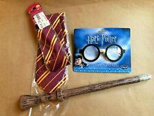 elope Harry Potter Plastic Costume Glasses Kids, Gryffindor Tie, Light Up Wand