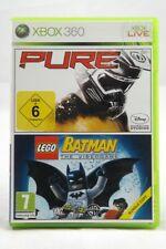Pure + Lego Batman: The Videogame (Microsoft Xbox 360) Spiel in OVP - GUT
