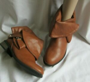 NEW IN BOC SIZE 5/38 TAN ANKLE BOOTS CHIC&SWAG