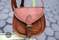 HANDMADE DESIGNER REAL LEATHER SATCHEL SADDLE BAG RETRO RUSTIC VINTAGE LEATHER