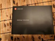 Leica M-D Typ 262 Camera Instruction Book / Manual / User Guide