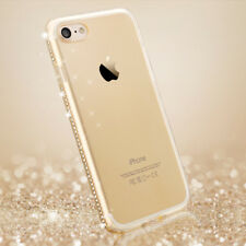 For iPhone 5 5s SE Case Glitter Bling Diamond Crystal Clear Rubber Soft Cover