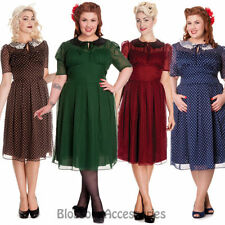 Polyester Polka Dot Tea Dresses