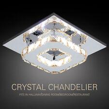 Warm Crystal LED Ceiling Light Pendant Lamp Lighting Flush Mount Chandelier New