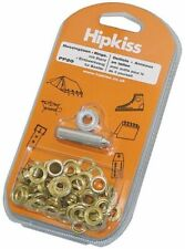 HIPKISS brass eyelets and tools in DIY set 5 mm 50 pcs