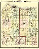 Racine  Kenosha Wisconsin Landowner - Snyder 1878 - 23 x 28.94