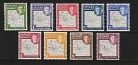 Falkland Islands Dependencies - #1L1a-8a, #1L13 Re-issued set, cat. $ 139.00