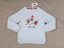 NEXT Girls Grey Merry Pugmas Sweatshirt Top, Size 7 years, BNWT